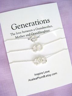 Generations Jewelry Mom Gifts GRANDMOTHER Mother Daughter 60th Birthday Gift For Women Grandmother