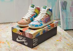 release date 60dbc b8290 Details about Nike SB X Thomas Campbell x Dunk High Premium x Skate Shoes - UK  6 RARE SOLD OUT