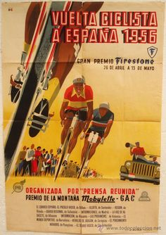 VUELTA CICLISTA A ESPAÑA 1956 Tired Of Love, Bike Poster, Bicycle Race, Cycling Art, Bike Art, Grand Tour, Vintage Advertisements, Vintage Posters, Photography Poses