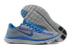 Mens Nike Free 3.0 V4 Wolf Grey Game Royal Wolf Grey Shoes #Mens #Nike #Free #30V4