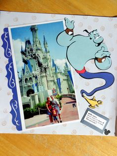 Magic Kingdom Disney World Scrapbook Page