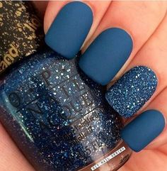 Not only do I love matte, but I love, love blueeee, every shade!!! #matte #nail #beautiful #fashion #opi