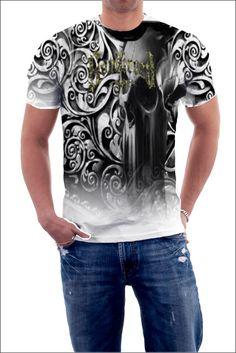Skull T Shirt. #tee #tshirt #filigree #skulls