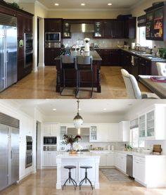 die alte Küche neuen Schein geben und aufhellen