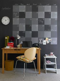 Keep walls free of decoration so you can rotate notes and reminders as needed.