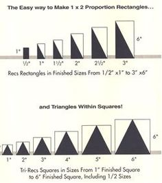 Ez Quilting tools Easy Square, Easy Angle, Easy Easy Tri-Recs, Tri-Mate - I really do need to buy this tool. Quilting Tools, Quilting Rulers, Quilting Tutorials, Machine Quilting, Quilting Designs, Triangle Quilt Tutorials, Quilt Size Charts, Quilt Sizes, Triangle Quilt Pattern