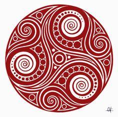 mandala celta - Pesquisa do Google Tribal Tattoos, Tattoos Skull, Celtic Tattoos, Tatoos, Triquetra, Celtic Symbols, Celtic Art, Celtic Mandala, Norse Mythology