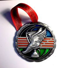 Track & Field Stained Glass Ornament for Coach or by GiftWorks