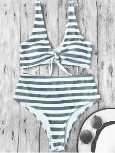 Shop trendy fashion swimwear online, you can get sexy bikinis, swimsuits & bathing suits for women on ZAFUL. Crop Top Bikini, Striped Bikini, Bikini Set, Sexy Bikini, Surf Girl Style, Zaful Bikinis, Surf Outfit, Bikini Swimwear, Stripes