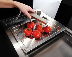 Edelstahl Spülbecken Handbrause Moderne Küche