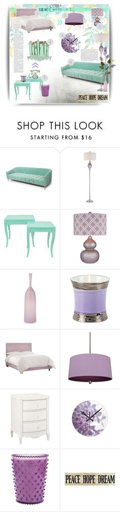 """Color Challenge: Lilac & Mint #2"" by emhenry ❤ liked on Polyvore featuring interior, interiors, interior design, home, home decor, interior decorating, Mint Velvet, Dimond, Dot & Bo and Kershaw"