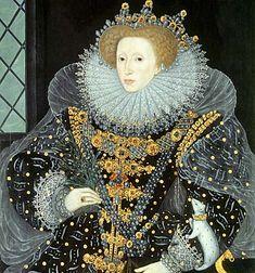 Queen Elizabeth I, The Ermine Portrait. Attributed to Nicholas Hilliart (1585)
