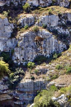 Pantalica, necropoli, Siracusa, Sicilia - necropolis, Syracuse, Sicily