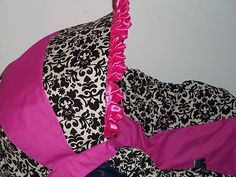 Damask Pink Infant Baby Car Seat Cover Graco or Evenflo Slip Cover | eBay
