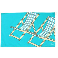 Deckchair Tea Towel by Gone Crabbing. Not on the High Street Oven Glove, Tea Towels, Art Decor, Decor Ideas, Clothes Hanger, Home Accessories, Outdoor Blanket, Christmas Gifts, Mugs