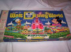 Vintage 1972 A Visit To Walt Disney World Magic Kingdom Board Game Milton Bradl
