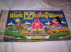 Vintage 1972 A Visit To Walt Disney World Magic Kingdom Board Game Milton Bradl