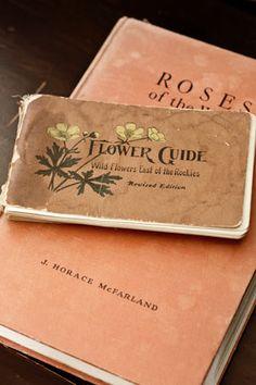 Vintage Flower Guide books