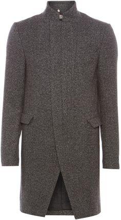 Label Lab Wool Long Line Coat in Gray for Men (Grey) - Lyst