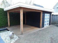 Tuinhuis met overkapping van douglas hout