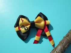 Harry Potter Gryffindor Hogwarts Inspired Hair Bow and Hair Clip