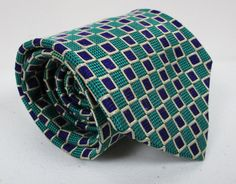 Mens Paul Fredrick Silk Tie Green And Purple Classic Necktie 58 x 3.75 New #PaulFredrick #Tie
