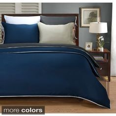 Luxor Treasures Wrinkle Resistant 600 Thread Count Bahama Solid 3-piece Duvet Cover Set