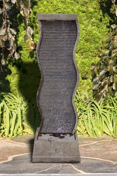 "61"" Curved Water Wall Fountain 