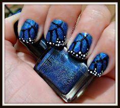 Glitter Gal's Marine Blue 3D/ Holo Butterflies so wanna try this