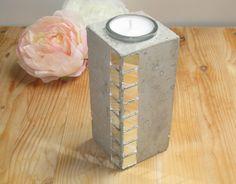 Kerzenhalter Teelichthalter Beton  von CharLen auf DaWanda.com