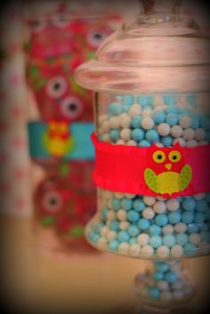 Candy at a Night Owl Slumber Party #owl #slumberparty