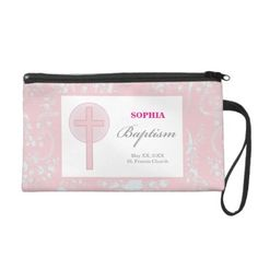 Pink Lace Girl Baptism Wristlet - baby gifts giftidea diy unique cute