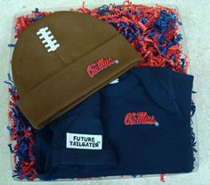 We've got spirit, yes we do! Show yours with our Mississippi Ole Miss Rebels Team Spirit gift set from Future Tailgater by DHM Kids, $24.99