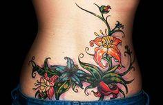 Lower Back Tattoo Designs For Women Waist Tattoos, Spine Tattoos, Cover Up Tattoos, Fake Tattoos, Body Tattoos, Girl Tattoos, Abdomen Tattoo, Tatoos, Kesha Tattoos