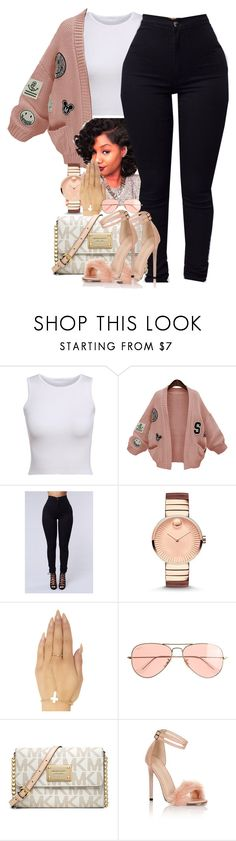 """""""eeh"""" by thaofficialtrillqueen ❤ liked on Polyvore featuring WithChic, Pacific Beach, Movado, Wet Seal, J.Crew, MICHAEL Michael Kors and Little Mistress"""