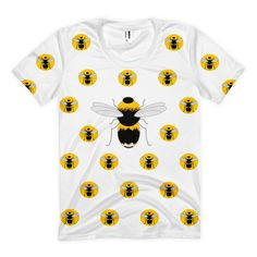 Queen Bee T-Shirt • Sweatshop free • Formfitting with a slightly scooped neckline • Ultra-comfy • Made to order using a slow fashion model to avoid waste • Features original copyrighted artwork • Printed using eco-friendly water based inks • PolyCotton (50% Polyester / 50% Combed Cotton) construction • Durable rib neckband • 1% of all sales are donated to environmental causes through 1% for the Planet • Available in more colours #wearewilder #bee #bees #honeycomb #sweatshopfree