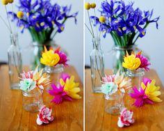 bliss!: DIY PAPER FLOWERS TUTORIAL