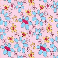 Pattern with stylized flowers.