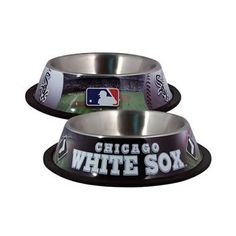 Hunter Mfg Chicago White Sox Stainless Dog Food Bowl, 3.5 Inch Tall