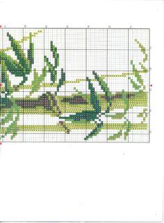 Cross-stitch Floral Scenes (4 different sets), part 7..  color chart on part 6
