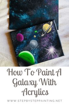 Galaxy Painting – Step By Step Acrylic Painting Tutorial Learn how to paint a galaxy with acrylic paint using a sponge. This easy beginner painting tutorial has full process pictures and a free video. Galaxy Painting Acrylic, Easy Canvas Painting, Acrylic Painting Tutorials, Diy Painting, Pumpkin Painting, Watercolor Galaxy, Spray Paint Canvas, Acrylic Tips, Summer Painting