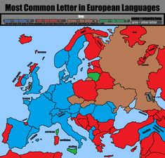 Most common letter in European languages.