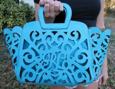 Turquoise Scroll Purse - BubbaJane's Boutique