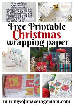 Make your gifts look extra special with free printable gift wrap. I love this beautiful Christmas gift wrap from DIY Candy. Free Christmas Gifts, Free Christmas Printables, Christmas Gift Wrapping, Holiday Crafts, Free Printables, Holiday Activities, Printable Paper, Beautiful Christmas, Holidays