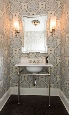 Pawleys Island Posh: Powder Room Progress...Finally