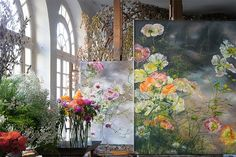 French artist Claire Basler in her home Château de Beauvoir - Art People Gallery