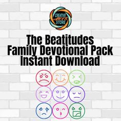 The Beatitudes Family Devotion Pack Blessed Are Those, Beatitudes, Kingdom Of Heaven, Memory Verse, Sunday School Crafts, 8 Days, Help Teaching, Kids Church, Art Store
