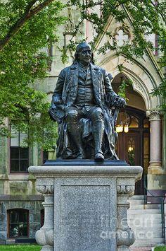 Ben Franklin at the University of Pennsylvania, Philadelphia, PA