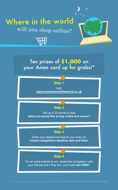 I'm in the running to win $1,000. You can too! Go to: http://www.amexwhereintheworld.co.uk/c/13444