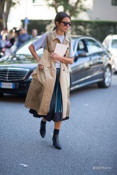 Уличная мода: Уличный стиль недели моды в Милане сезона весна-лето 2016